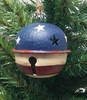 Item # 568485 - Rustic Patriotic Jingle Bell Christmas Ornament