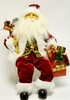Item # 599059 - Burgundy/Gold Sitting Santa Figure