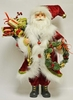 Item # 599072 - Red/White Santa With Wreath & Gift Bag Sit Around