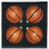 Item # 599075 - 67 MM Decorated Basketball Christmas Ornament