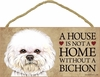 Item # 628012 - Bichon Frise House Not Home Sign