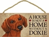 Item # 628025 - Brown Dachshund House Not Home Sign
