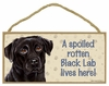 Item # 628061 - Black Lab Spoiled Sign