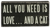 Item # 642062 - All You Need...A Cat Box Sign