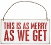 Item # 642068 - As Merry Box Sign Plaque