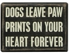Item # 642075 - Dogs Paw Prints Box Sign