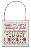 Item # 642084 - When You Stop Believing In Santa You Get Underwear Fancy Plaque