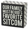Item # 642097 - Favorite Sitcom Box Sign