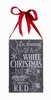 Item # 642117 - White Christmas Chalk Sign