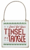Item # 642148 - Tinsel Tangle Fancy Plaque