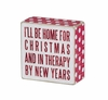 Item # 642152 - Home For Christmas Box Sign