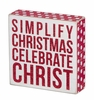 Item # 642164 - Celebrate Christ Box Sign