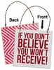 Item # 642176 - Believe Box Sign Plaque