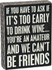 Item # 642279 - Wine Amateur Box Sign