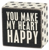 Item # 642283 - Heart Happy Box Sign