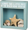 Item # 642286 - I Always Take A Little Piece Of The Beach Home With Me Cork & Cap/Shell Holder