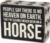 Item # 642345 - On A Horse Box Sign