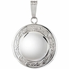 "Round Locket with 18"" Rope Chain"