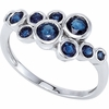 Sapphire Ring in 14K White Gold