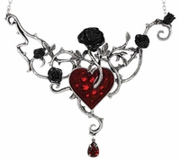 Bed of Blood Roses Choker Necklace For Drawing Love to You