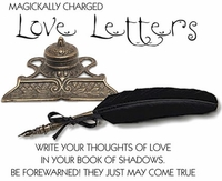 Magickally Charged Quill Pen & Ink Well For Love Letters
