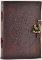 Pentagram Leather Book of Shadows - With Spell Casting
