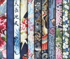 10 BLUE ASIAN JAPANESE FAT QUARTERS (2 1/2 YDS.)