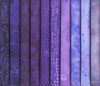 10 Purple Blender Fat Quarters: 2 1/2 Yards