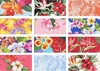 PARADISE!!!!  12 Tropical Floral Fat Quarter Collection (3 Yds.)