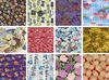 12 ASIAN FAT QUARTER FABRICS: 3 YDS