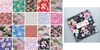 "NEW! Assorted Asian Fabric Charm Pack: Set of 42 - 5"" x 5"""
