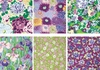 6 'FLOATING WORLD' Purple Fat Quarter Collection (1 1/2 Yds)