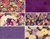 6 PURPLE ASIAN FAT QUARTER ASSORTMENT (1 1/2 Yds.)