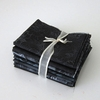 8 BLACK/CHARCOAL TONE ON TONE FAT QUARTERS: 2 YDS.