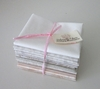 10 CREAM/WHITE TONAL FAT QUARTERS: 2 1/2 YDS.