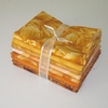 8 GOLD/YELLOW TONE ON TONE FAT QUARTERS: 2 YDS