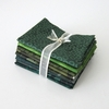 8 GREEN TONE ON TONE FAT QUARTERS: 2 Yds.