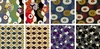 8 MODERN MOVEMENT Fat Quarter Collection (2 Yards)