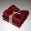 8 RED TONE ON TONE FAT QUARTERS: 2 YDS.