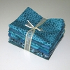 8 TEAL/TURQUOISE TONE ON TONE FAT QUARTERS: 2 YDS