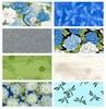 8FQ BLUE EXOTIC GARDEN ASIAN COLLECTION: 2 Yards