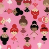 ADORABLE BALLERINA DANCERS: Pink (1/2 Yd.)