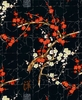ALLURING CHERRY BLOSSOM BRANCHES: Black (1/2 yd)
