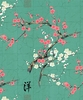 ALLURING CHERRY BLOSSOM BRANCHES: Mint (1/2 yd)