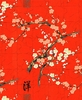 ALLURING CHERRY BLOSSOM BRANCHES: Red (1/2 yd)