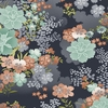 ASAMI COLLECTION: Asian Garden - Black (1/2 Yd.)