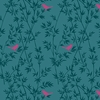 ASAMI COLLECTION: Song Birds - Teal (1/2 Yd.)