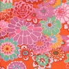 ASIAN CIRCLES: Button Mums - Tomato (1/2 Yd.)