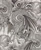 Asian Dragons: Grey Tonal (1/2 Yard)