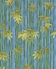 Bamboo Forest: Blue/Gold (1/2 Yd)